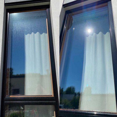 Korkeiden ikkunoiden pesu Ungerilla